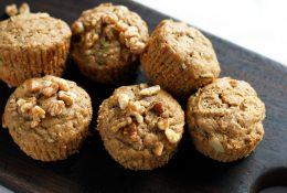 Vegan Banana Walnut Wheatgerm Muffin