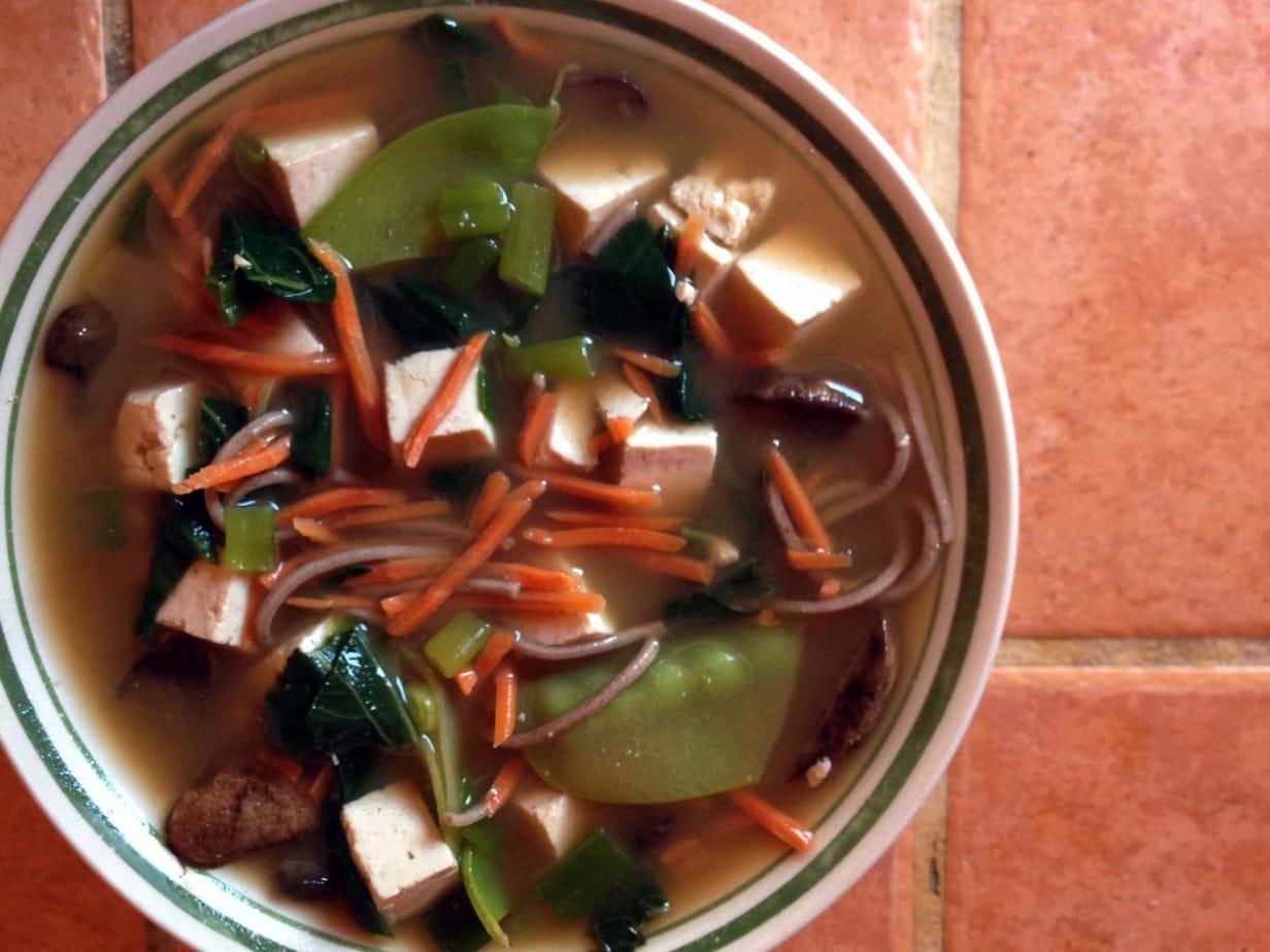 Udon Miso Noodle Soup | Well Vegan