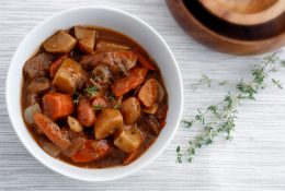 Vegan Mushroom Seitan Stew
