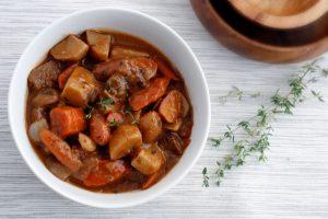 Vegan Soup: Vegan Mushroom Seitan Stew