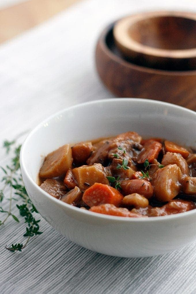 Mushroom Seitan Stew