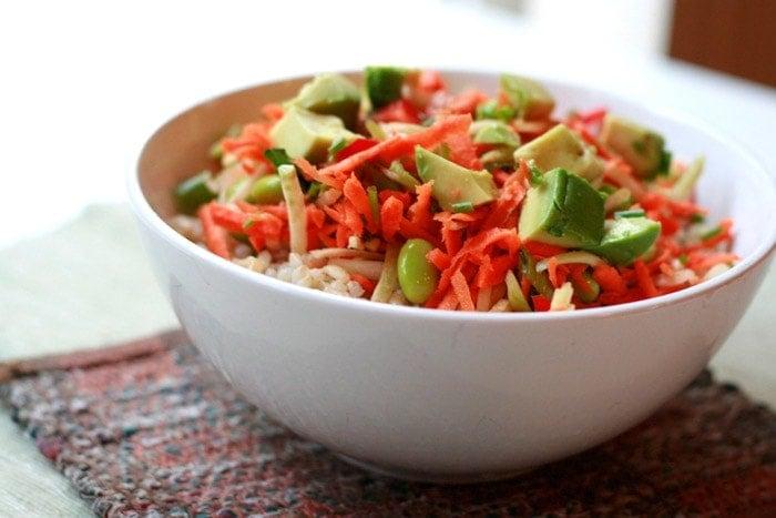 Edamame Sushi Bowl - Well Vegan