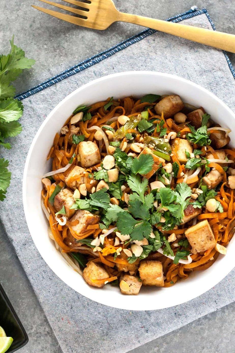 Vegan pad thai with sweet potato noodles recipe well vegan forumfinder Choice Image